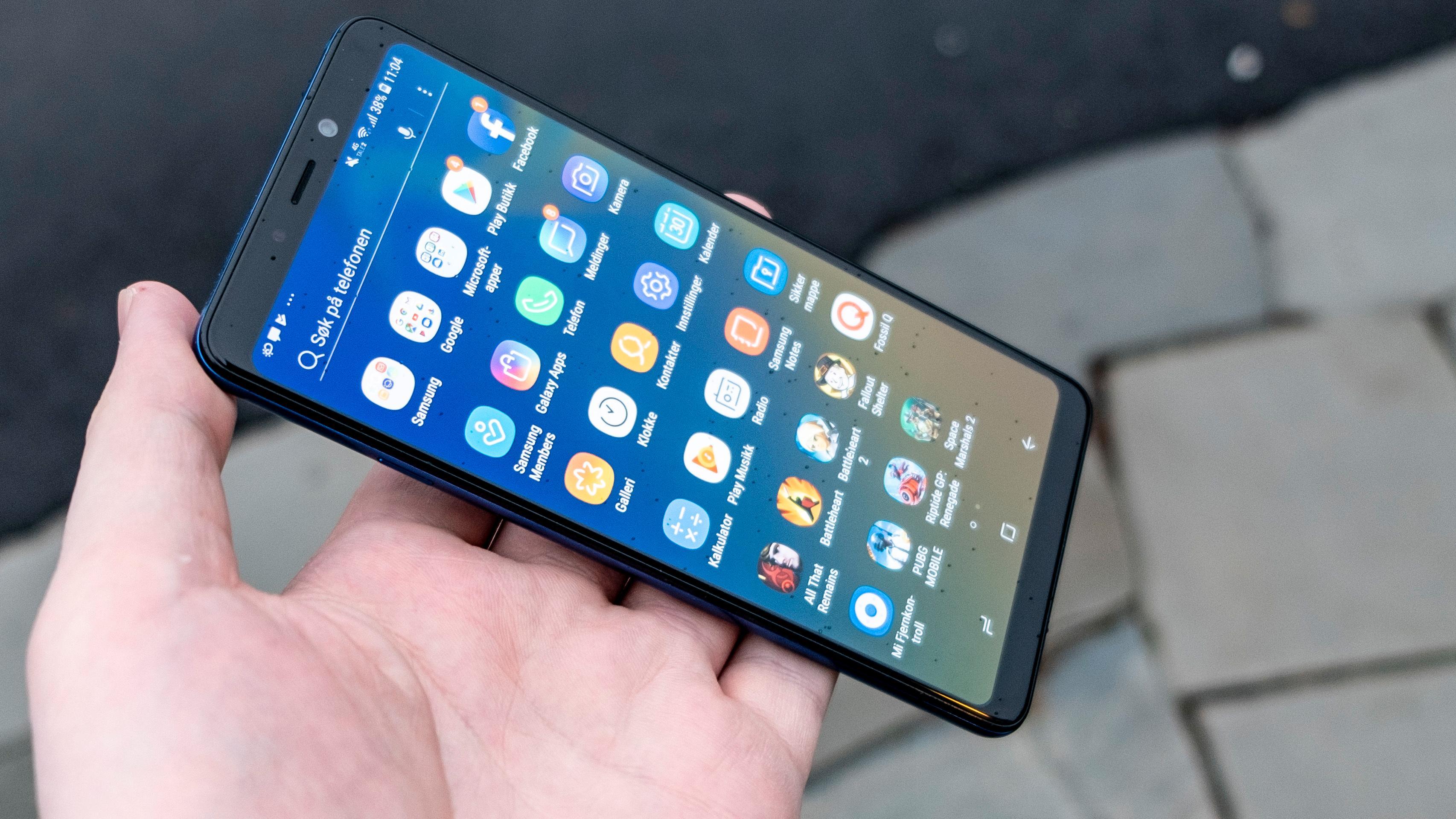 Samsung-menyene er kjappe nok, og ikke like overlesset i forhåndsinstallerte apper som de pleide å være.
