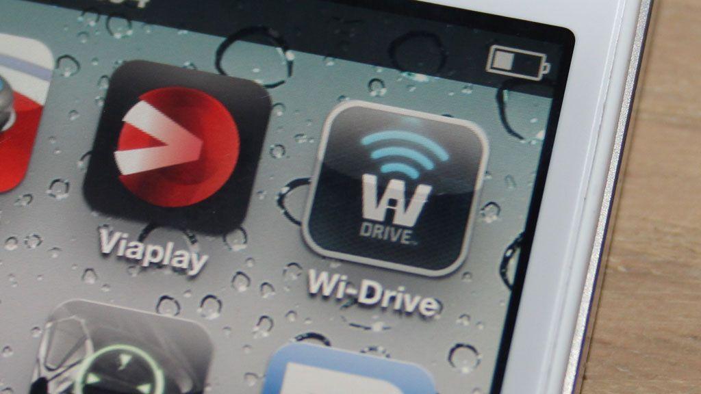 Dette ikonet gir deg tilgang til filer lagret på en trådløs disk.Foto: Espen Irwing Swang, Amobil.no