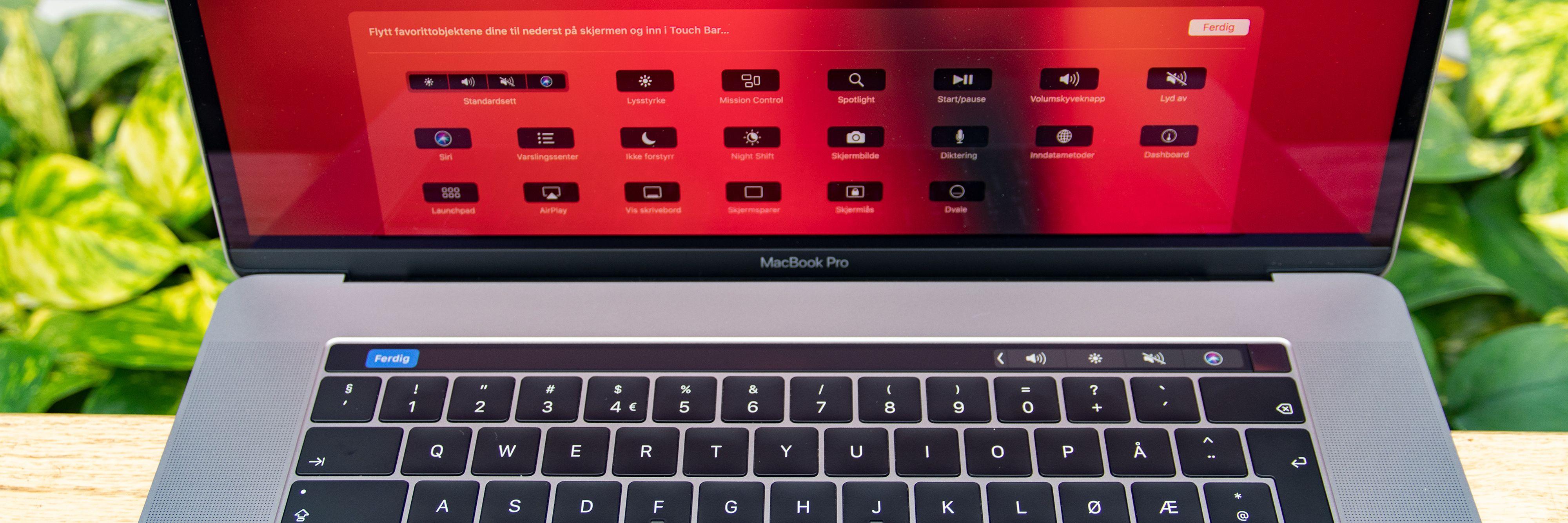 Du kan legge dine mest brukte snarveiene på Touch Bar.