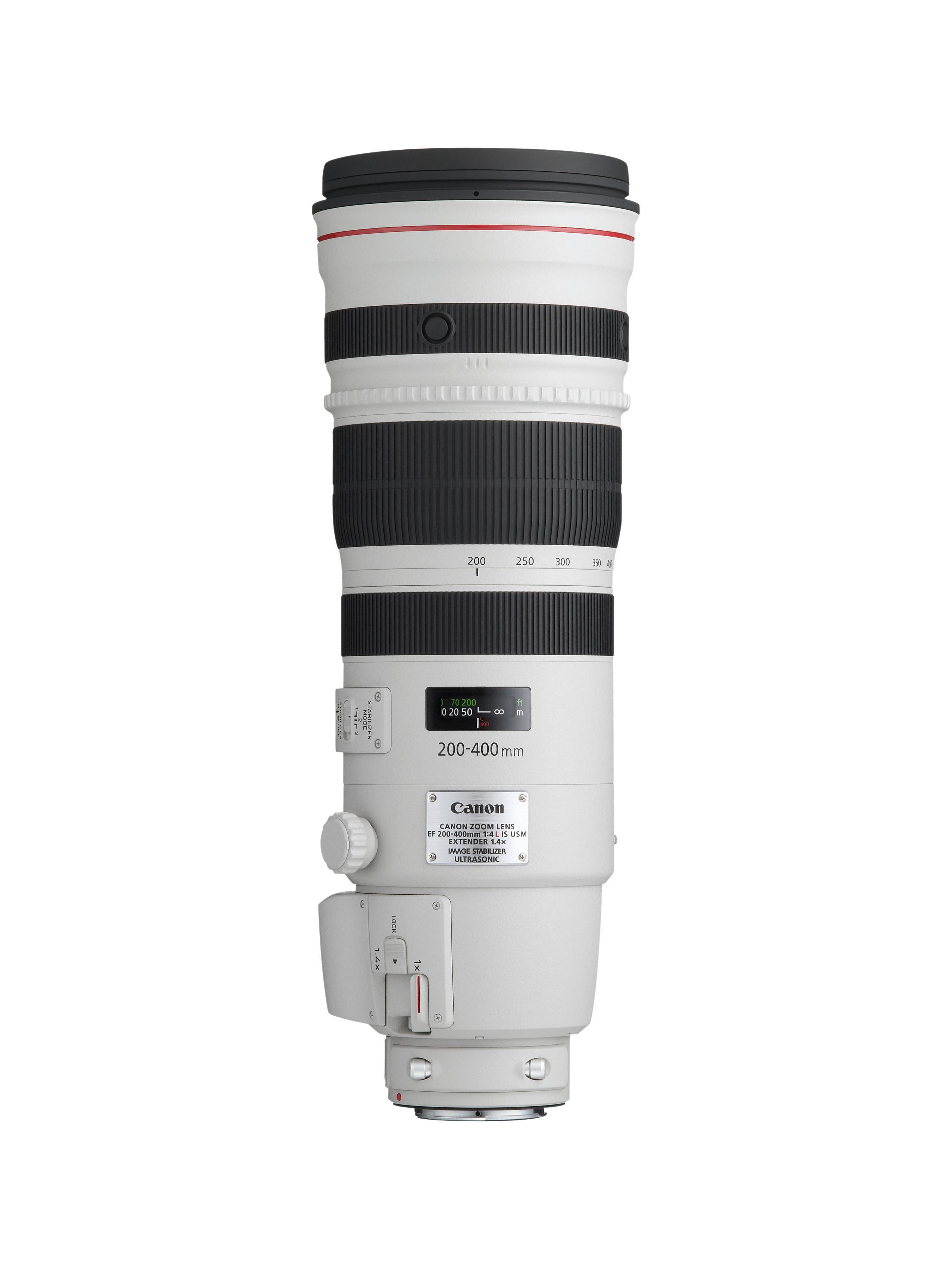 EF 200-400mm L IS USM med telekonverter-utspringet på siden.Foto: Canon
