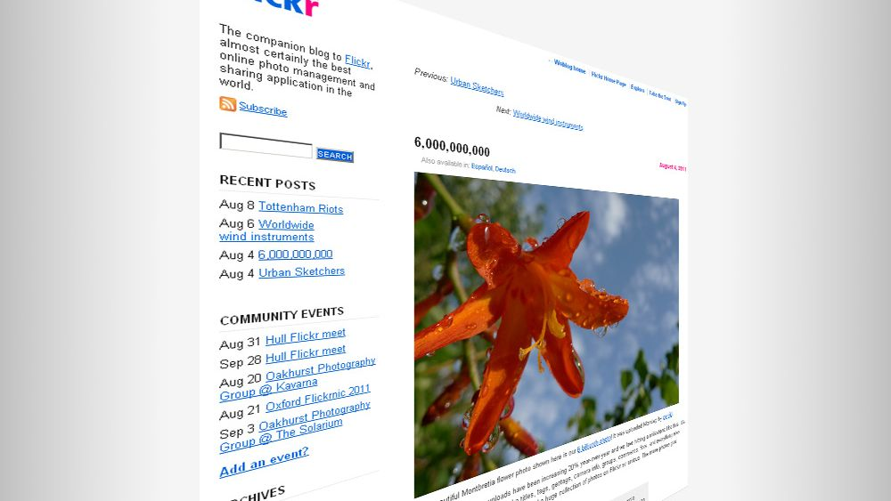 Flickr-bilde nr seks milliarder