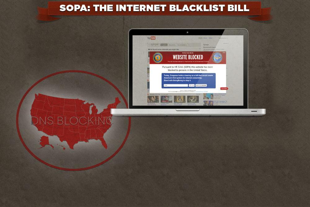 SOPA-loven ble lagt død for tre år siden, men nå mener Google at den forsøkes «snikinnført» likevel.Foto: Wikipedia