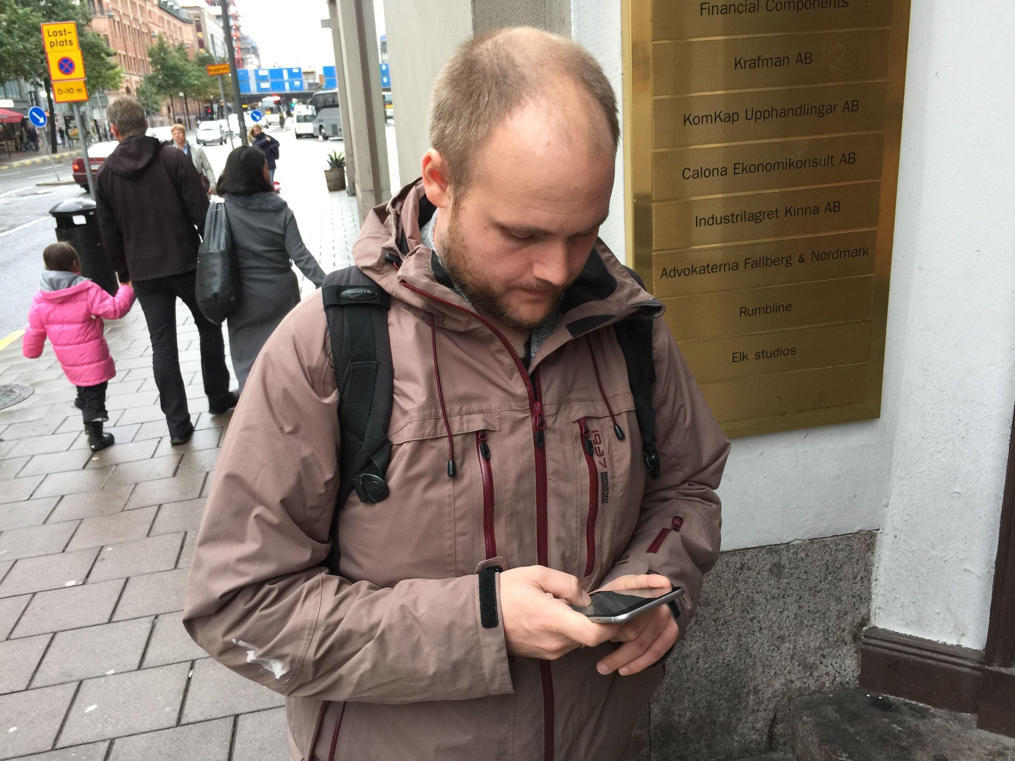 Testbilde iPhone 6 Plus - Marius Valle i Teknisk Ukeblad inspiserer Apples nyeste kreasjon.