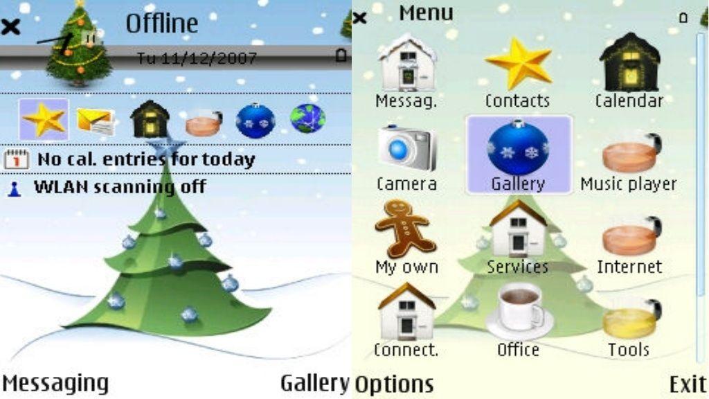 Xmas Tree mobiltema