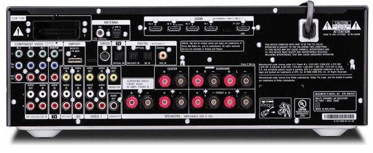 Sony STR-DN1010 på baksiden