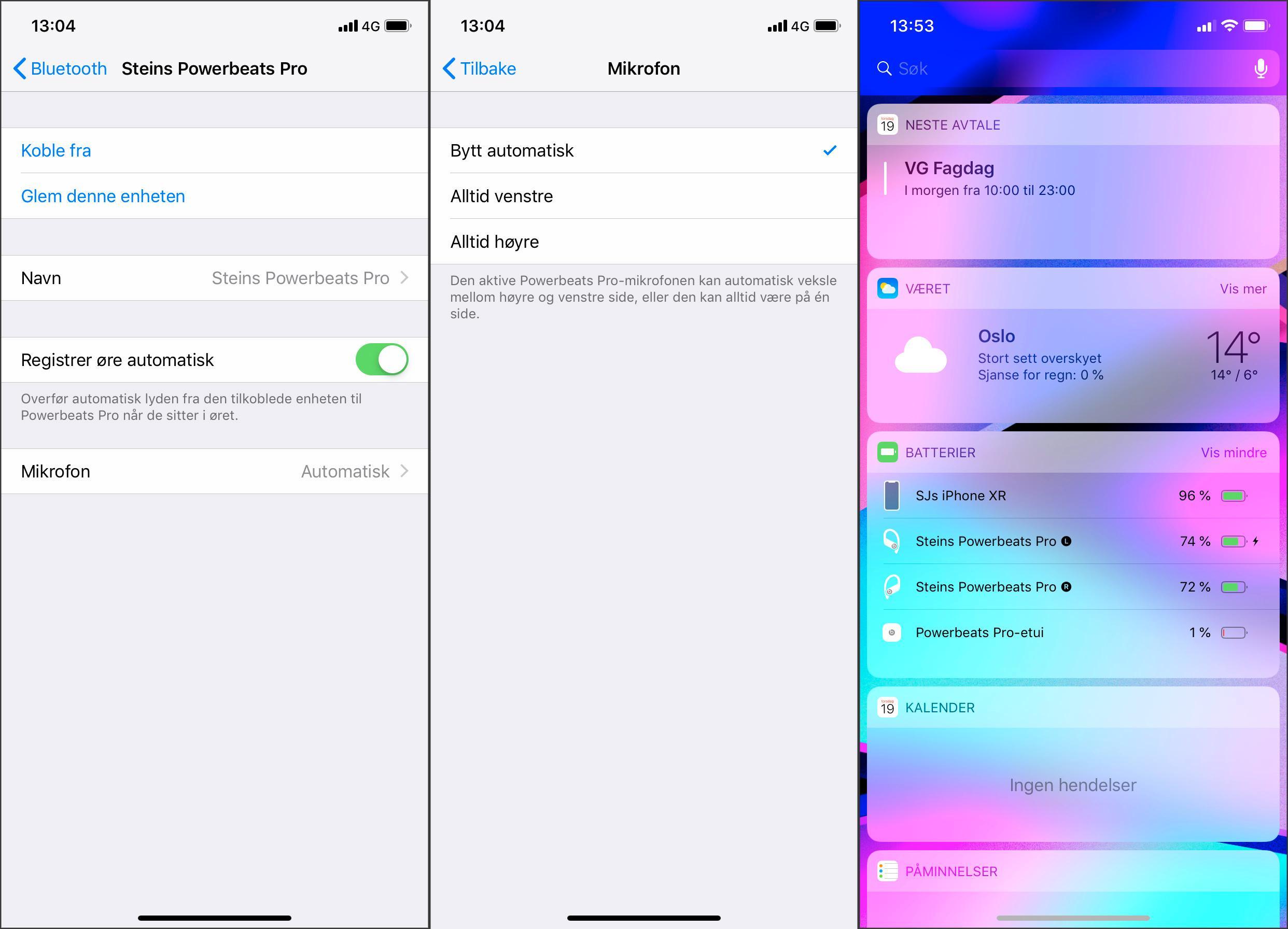 Innstillingsmulighetene for Beats-pluggene er magre. Batteritiden kan i alle fall sjekkes ved å holde etuiet åpent og i nærheten av iOS-enheten.