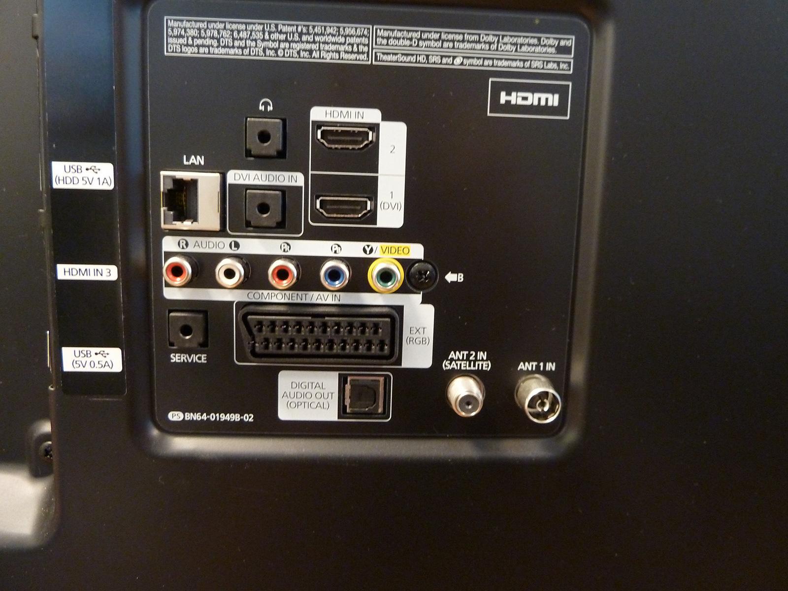 Slik ser det ut bakpå TV-en mens den ennå kan ta inn rikskringkastingen.Foto: Elektronisk Service