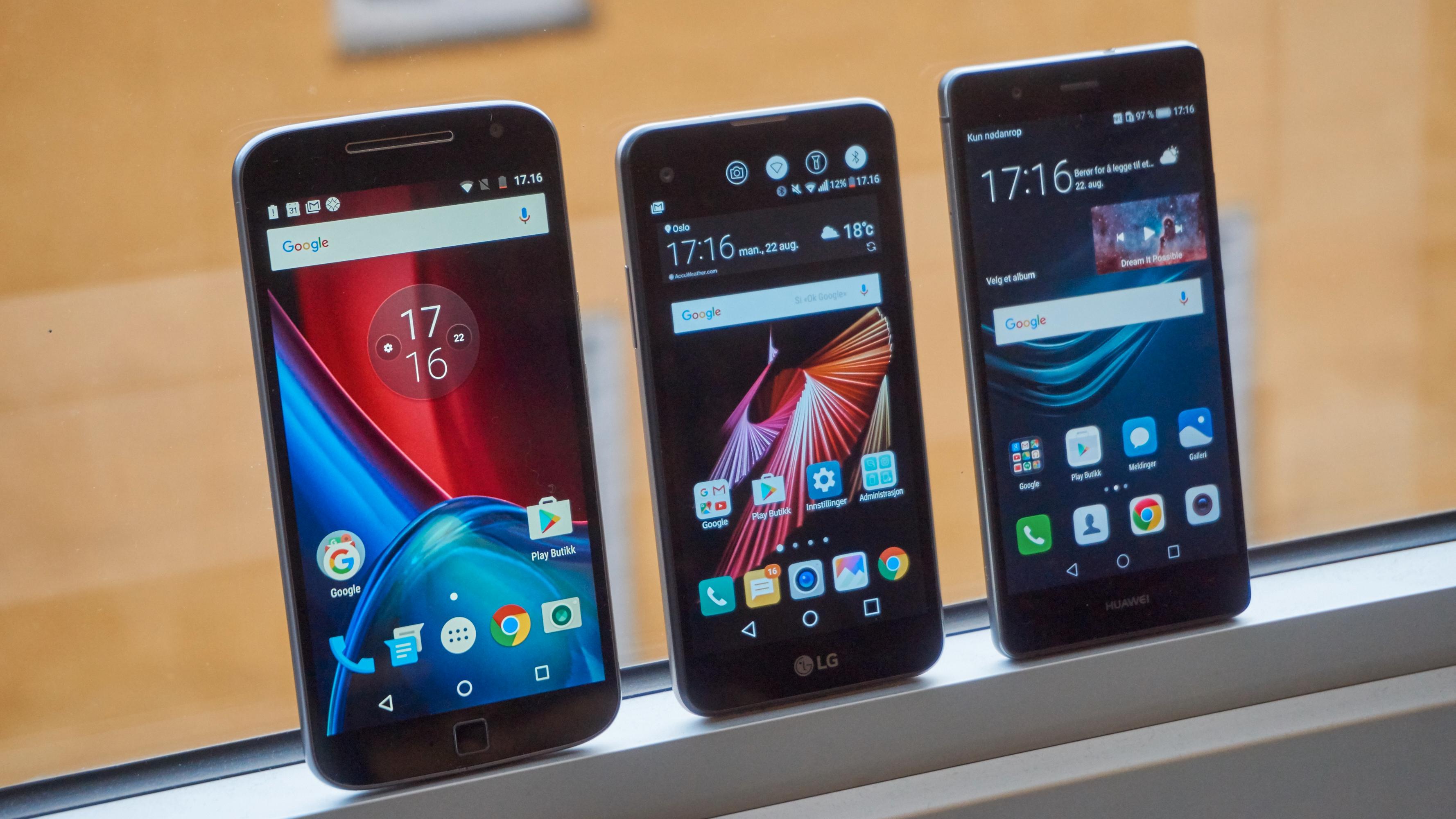 Både Moto G4 Plus og Huawei P9 Lite gir langt mer for pengene enn X Screen.