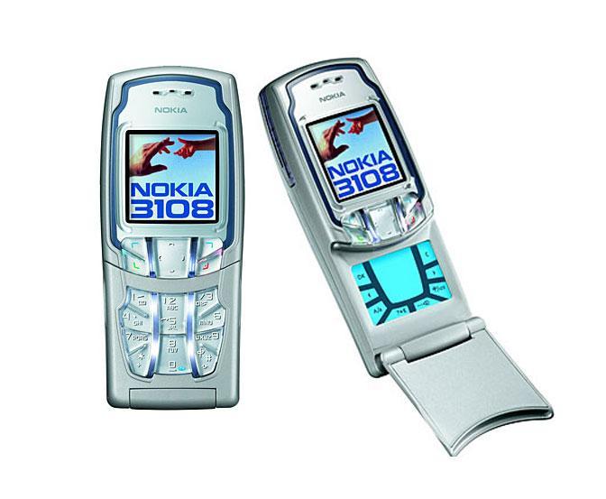 Nokia 3108 hadde taser på et lokk du kunne åpne. Under var det en trykkfølsom sorthvittskjerm som egentlig ikke kunne brukes til noe fornuftig.