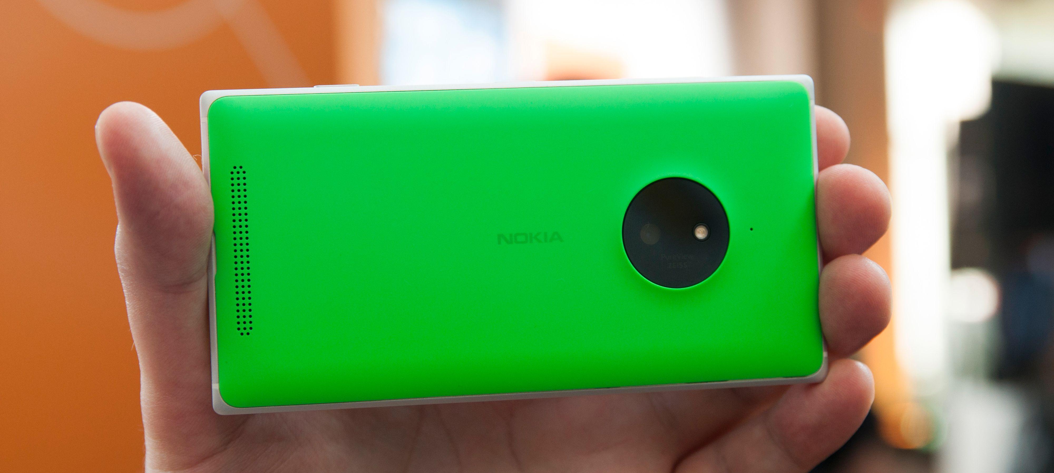 Lumia 830 skal være inngangsmodellen med optisk stabilisert PureView-kamera. Denne gang er oppløsningen bare på 10 megapiksler.Foto: Finn Jarle Kvaheim, Amobil.no