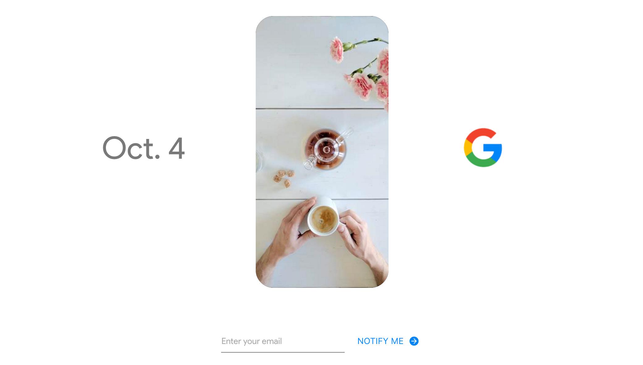 Google har lagt ut dette teaser-bildet til sin lansering 4. oktober.