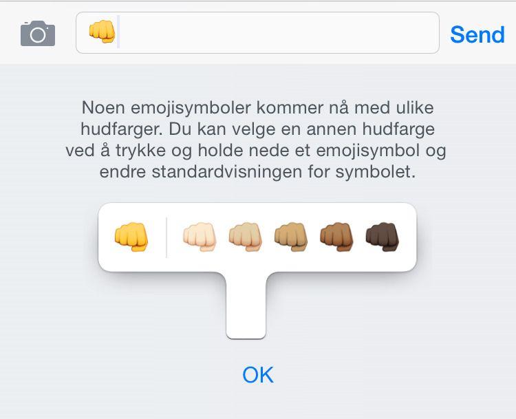 Nå får du velge hudfarge på flere av emojiene.