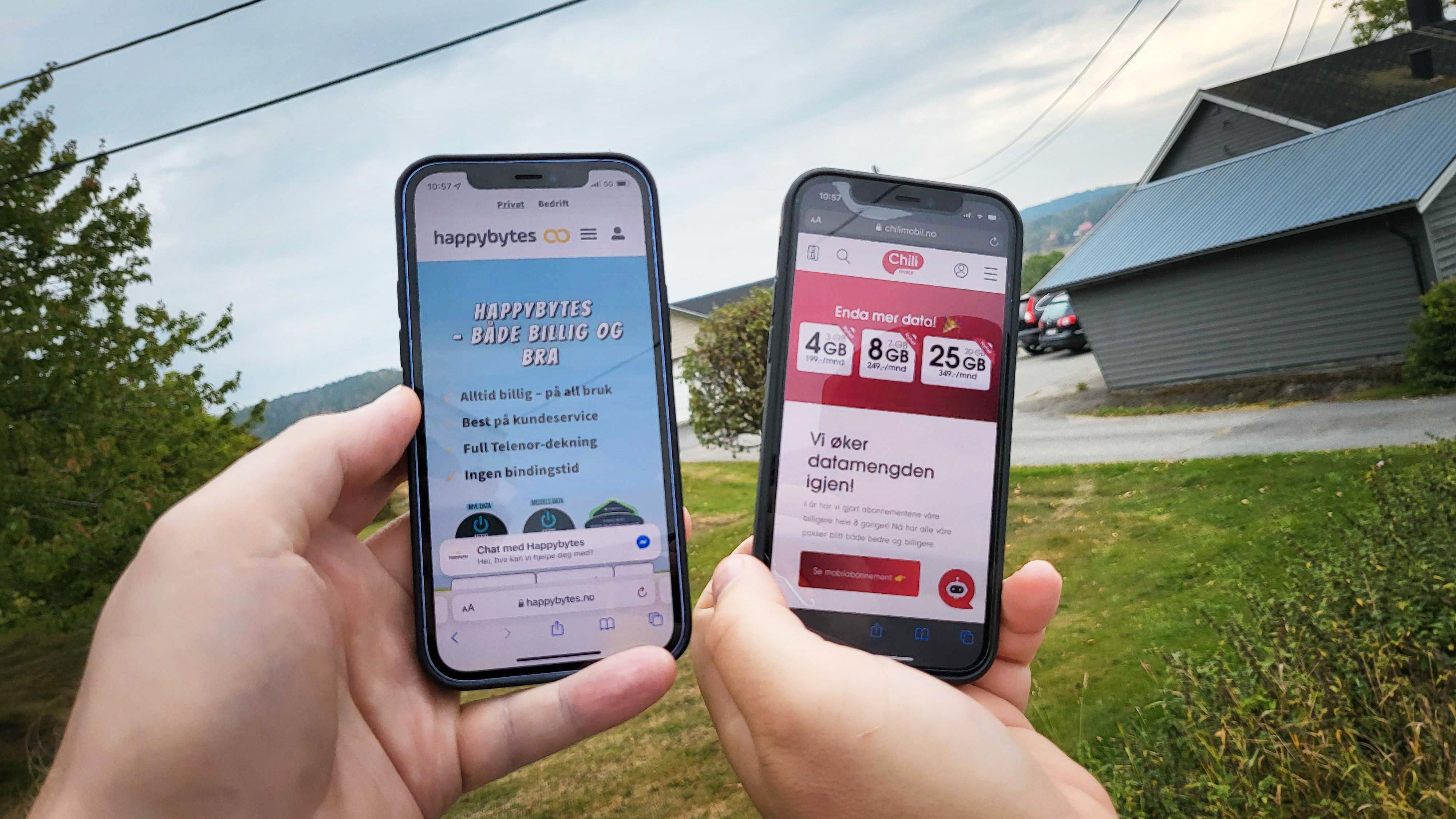 Kniving blant billigaktørene: Både Chilimobil og Happybytes lanserer nye abonnement