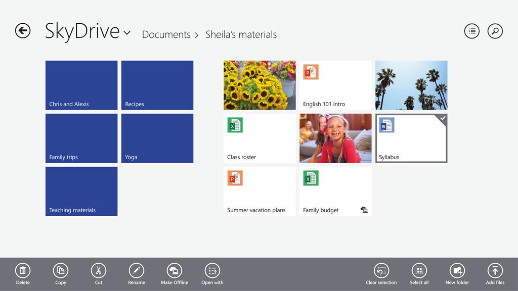 SkyDrive blir nå mer integrert.Foto: Microsoft