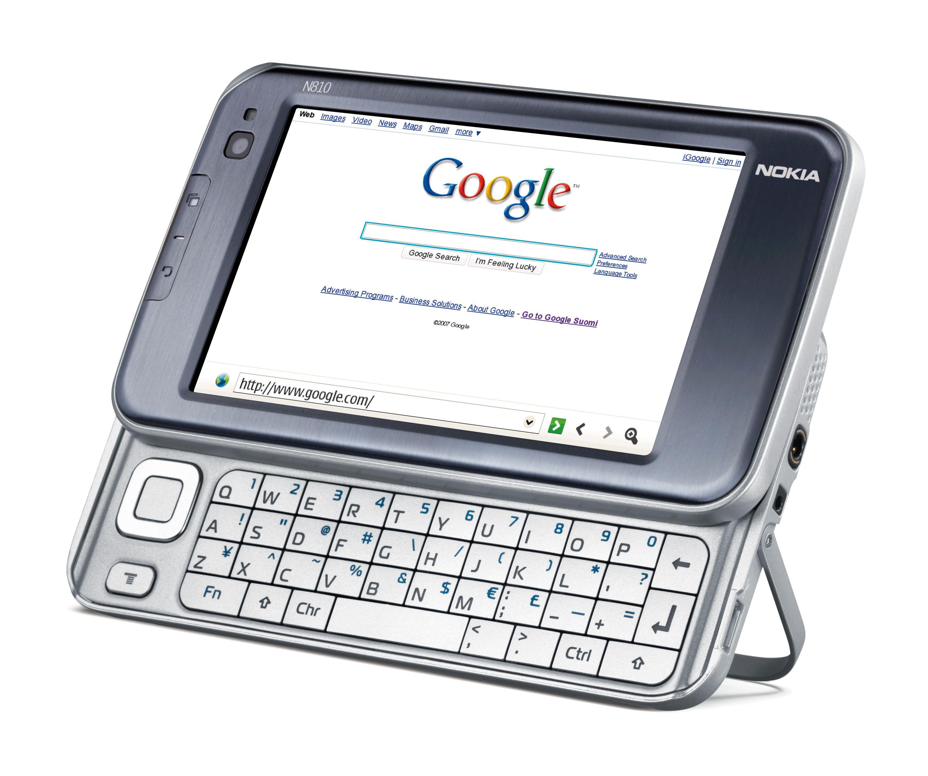 Det fulle tastaturet gjør det enkelt å skrive inn nettadresser og annet. (Foto: Nokia)