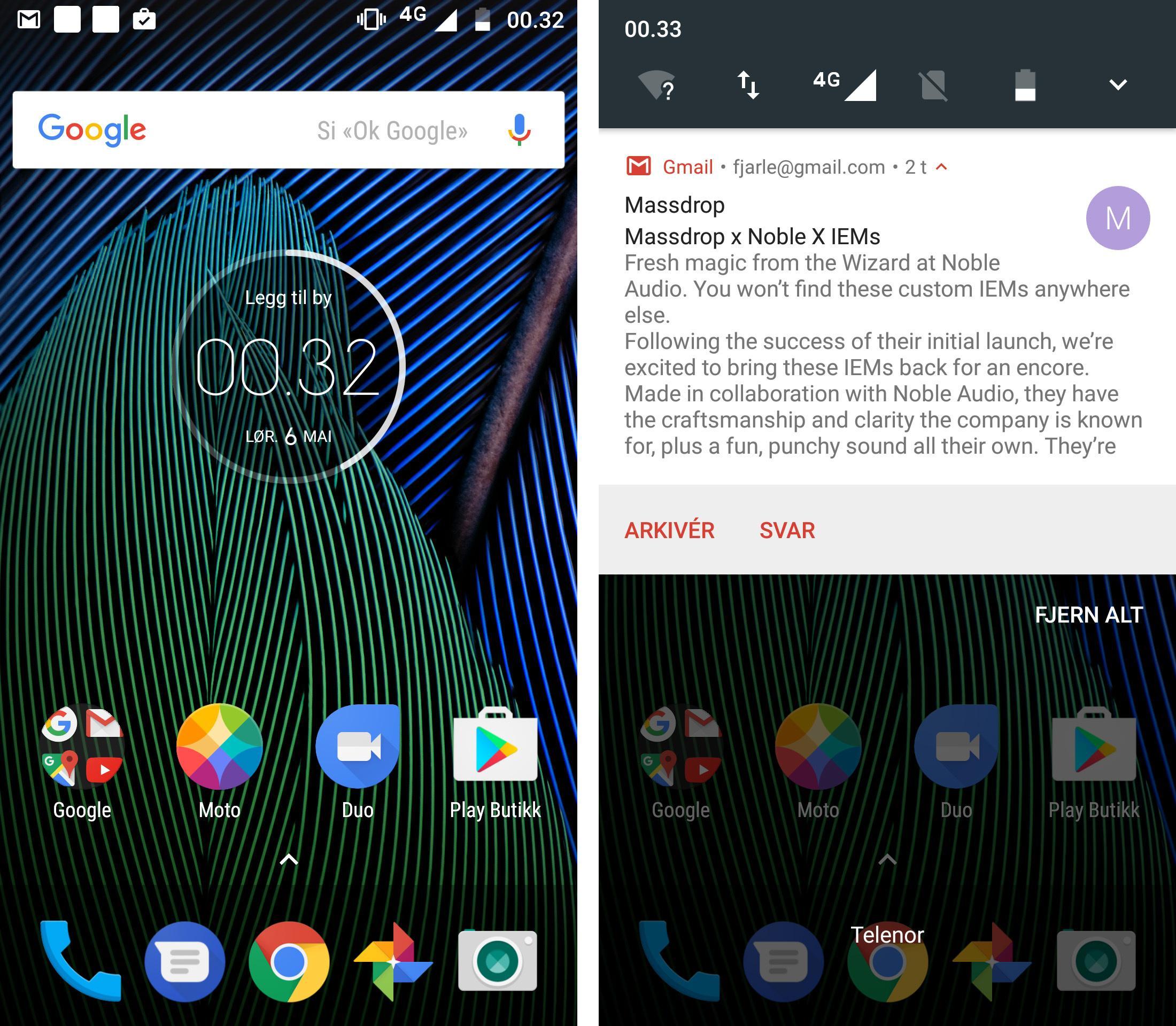 Menyene er så godt som identiske med de du finner på Google Pixel. Alt går lynende kjapt. Selv om Moto G5 Plus ikke har samme motor som de dyreste mobilene, klarer den å by på en brukeropplevelse som slår mange telefoner til tre ganger prisen.