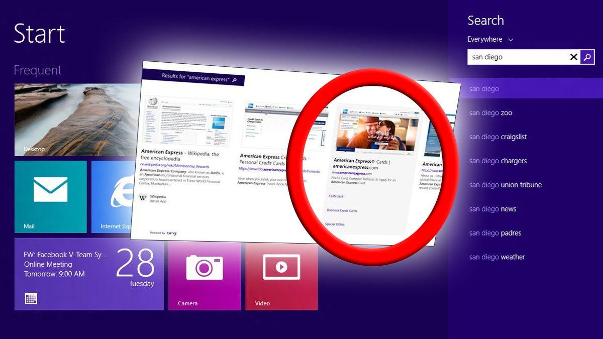 Microsoft legger reklame direkte inn i Windows 8.1
