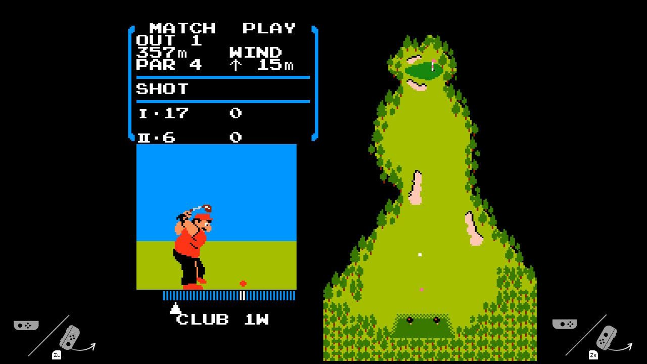 Spillet har også tospillermodus - og Joy-Con-instruksjoner direkte på skjermen.