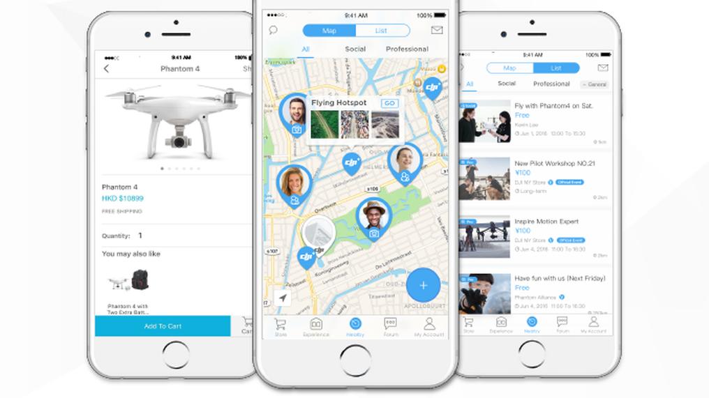DJI lanserer «Facebook» for dronebrukere