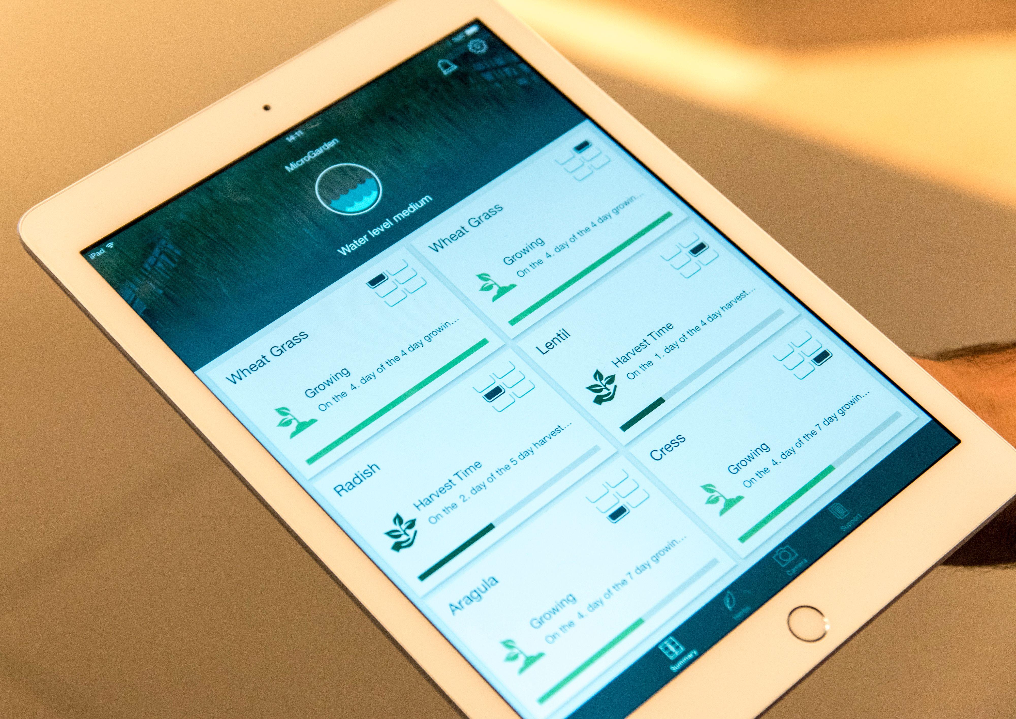 Detaljer om hvor alt er i prosessen kan leses ut av samme app.
