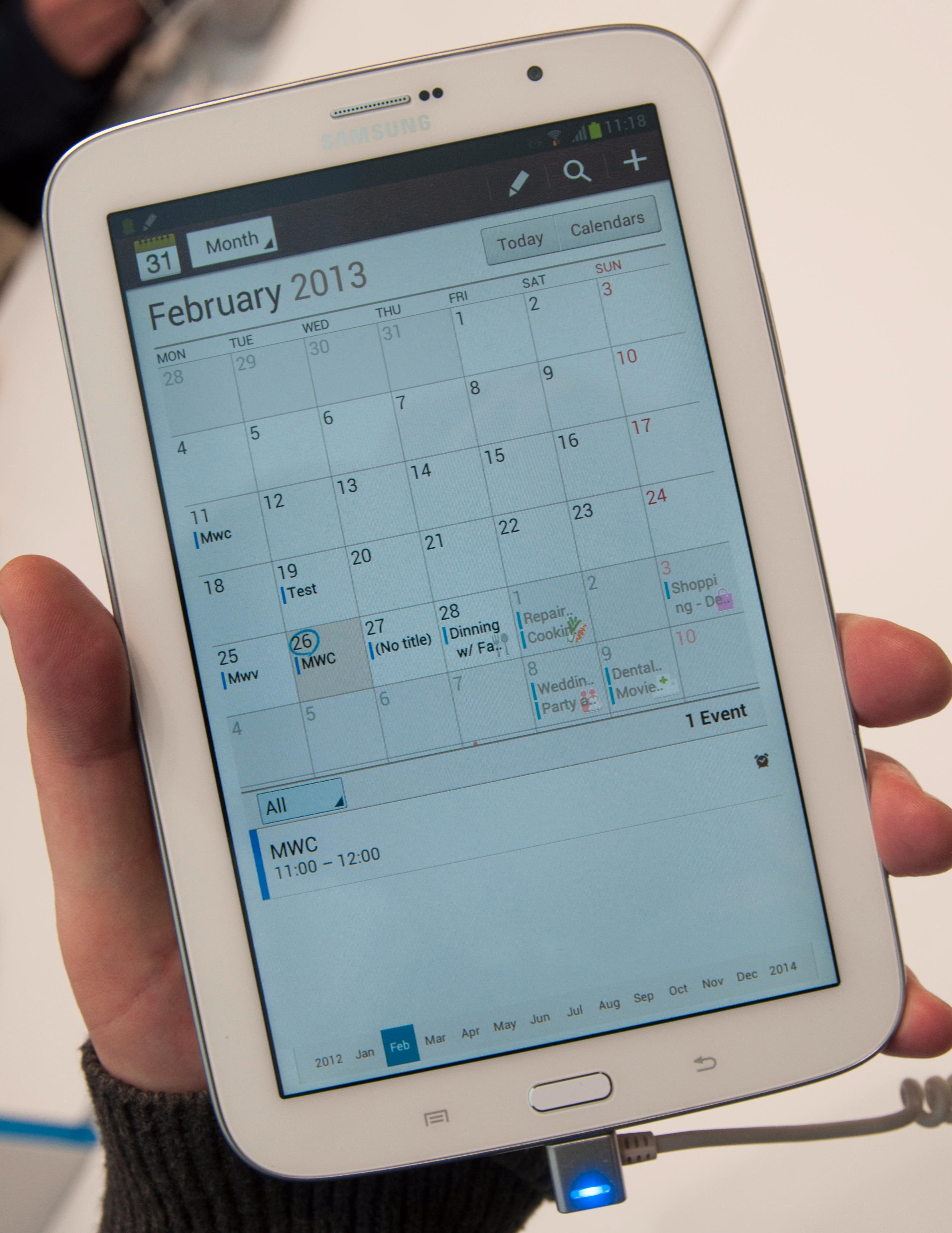 Slik ser kalender-appen ut.Foto: Finn Jarle Kvalheim, Amobil.no