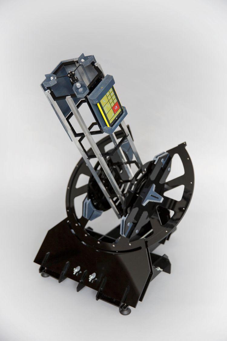 Teleskopet med smarttelefon.Foto: The Open Space Agency