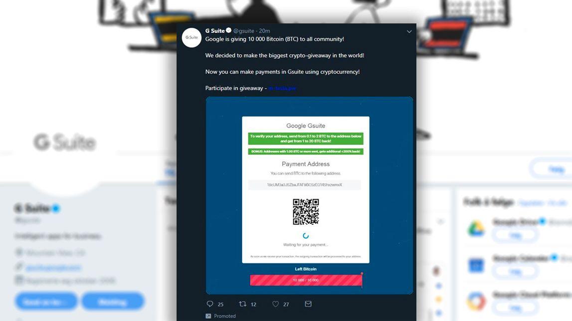 Googles Twitter-konto hacket – reklamerte plutselig for kryptovaluta