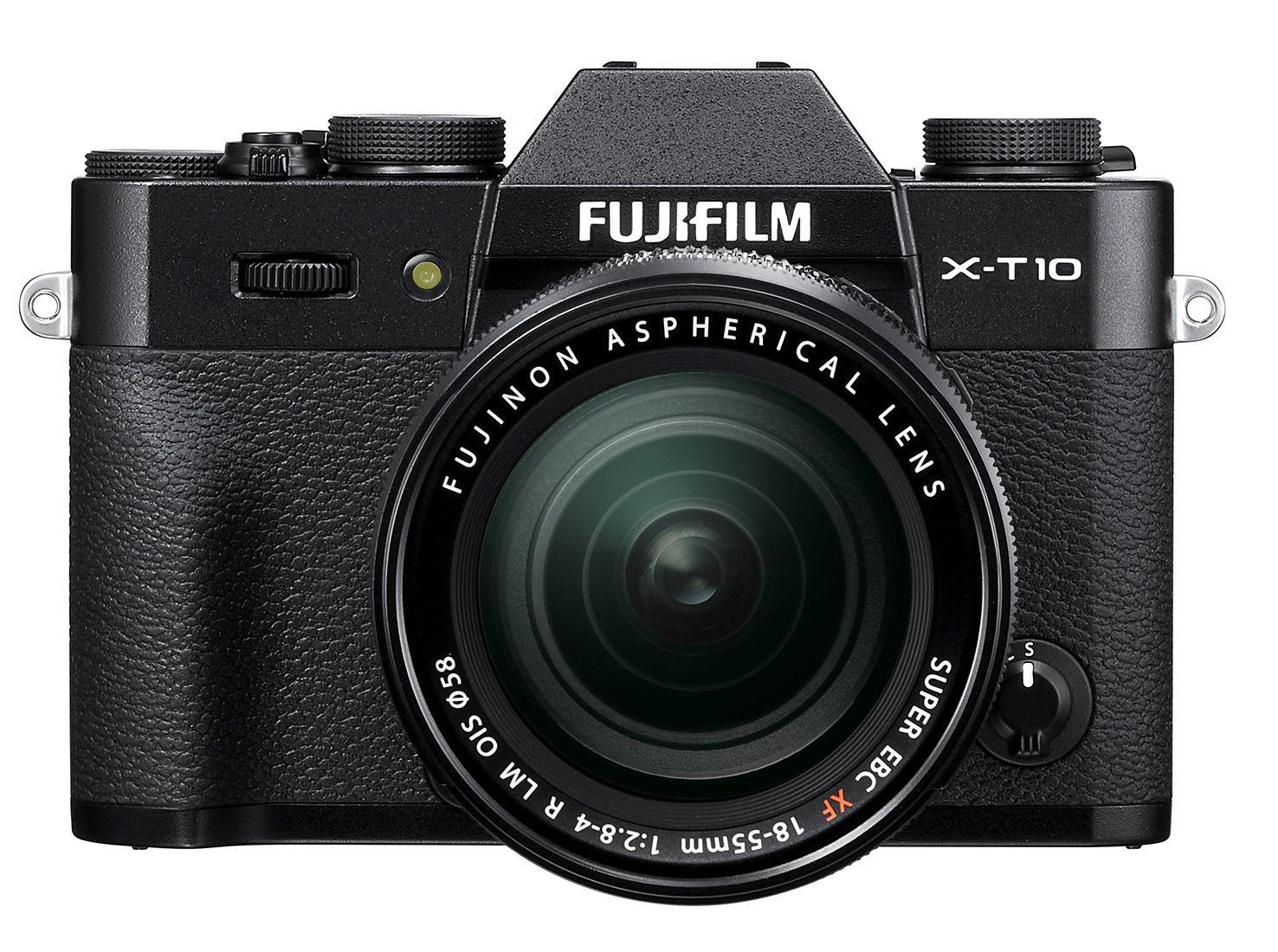 X-T10 i svart. Foto: Fujifilm