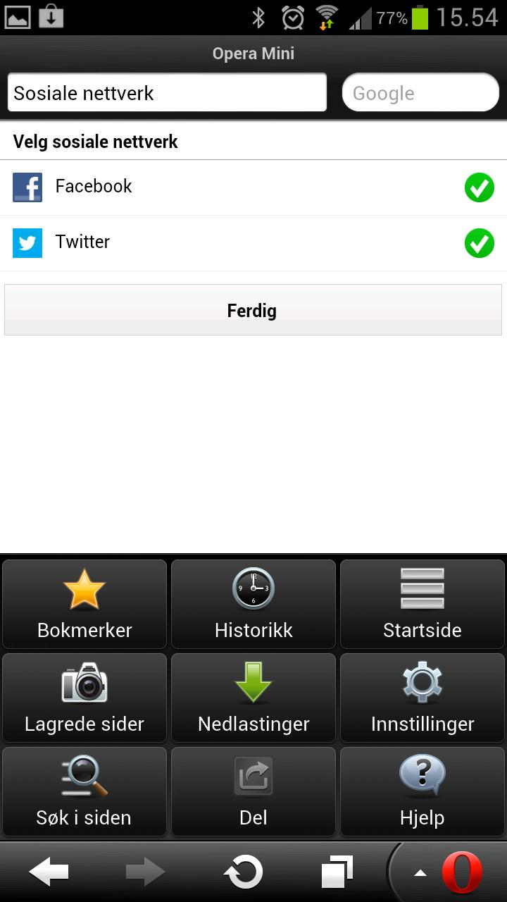For å få mest ut av de nye funksjonene må du først legge inn kontoene dine på Twitter og Facebook.