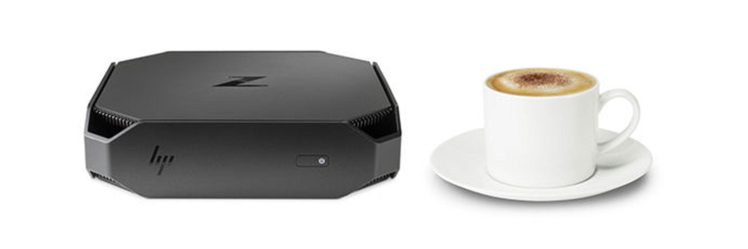 Det er en liten maskin vi snakker om – mindre enn en espressokopp!