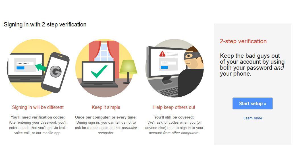 Google tilbyr 2-stegs-verifikasjon som fungerer på tvers av både Gmail, Google Drive, og alle de andre tjenestene deres.