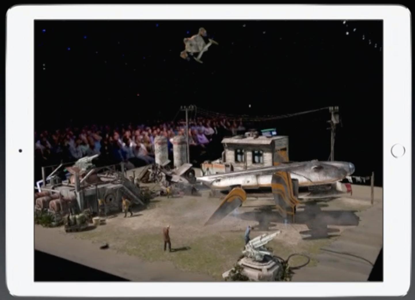 Ikke det beste bildet, men du kan i hvert fall se litt av hvor detaljerte AR-apper kan bli.