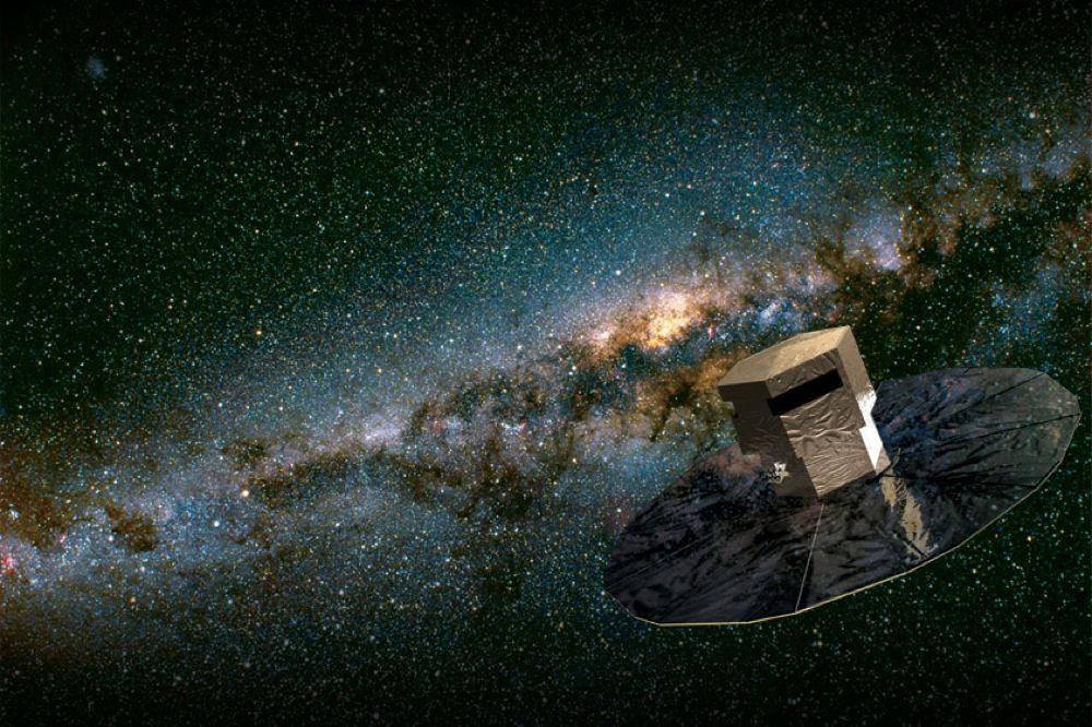 Gigapikselkameraet vil være montert på Gaia-satelitten. Foto:Illustrasjon ESA