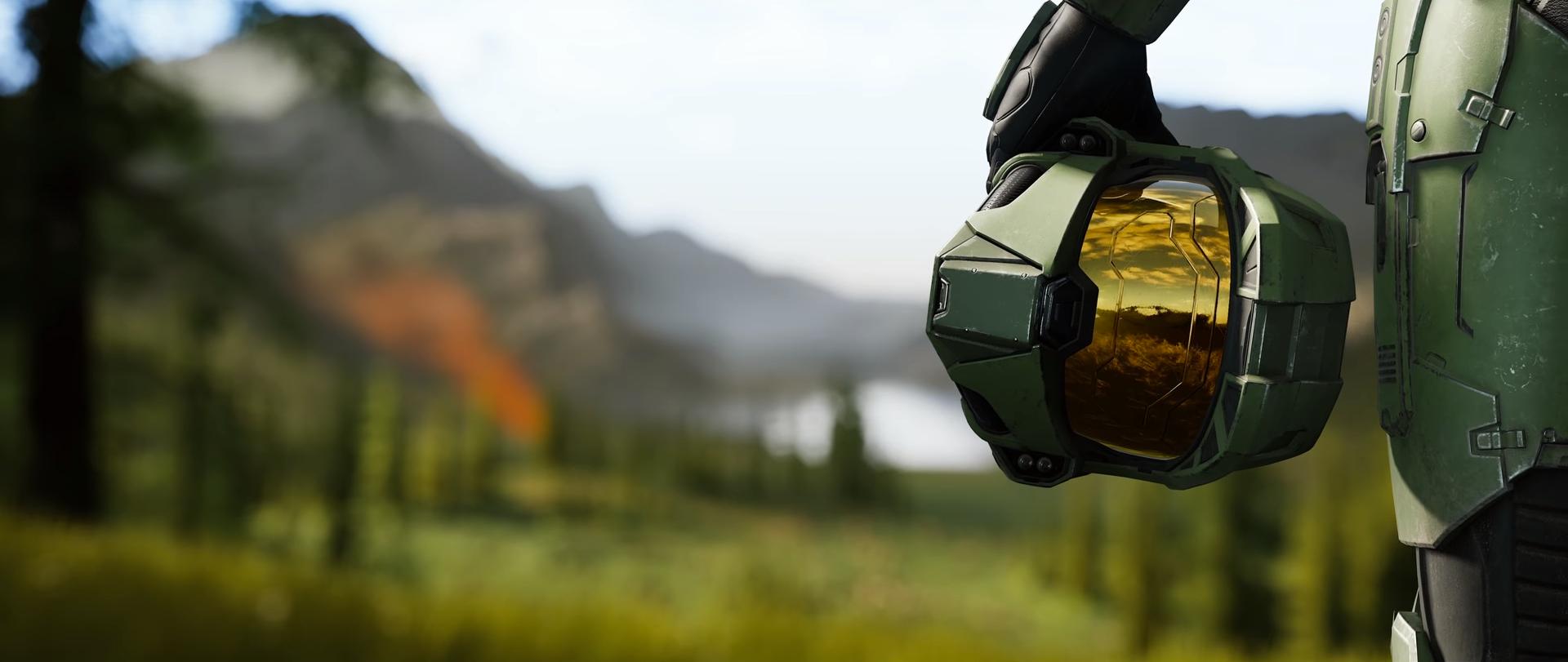 Skjermbilde fra Halo Infinite-traileren.
