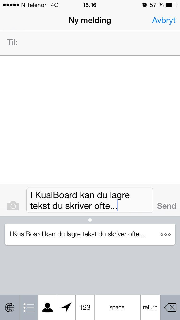 KuaiBoard likte vi godt. Praktisk å slippe å skrive e-postadressen manuelt hver gang.Foto: skjermbilde