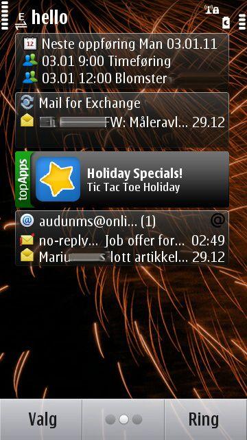 På side to legger nye e-postkontoer seg automatisk til.