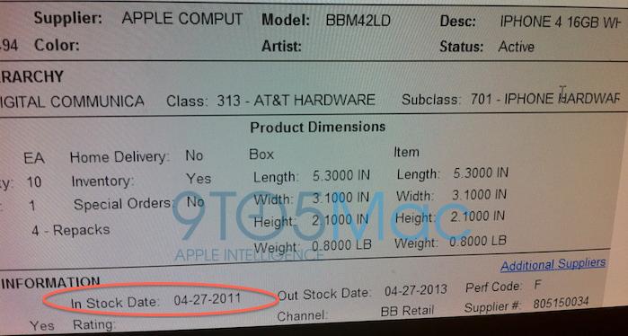 Slik ser lagerlistene 9to5mac.com har fått tak i ut.
