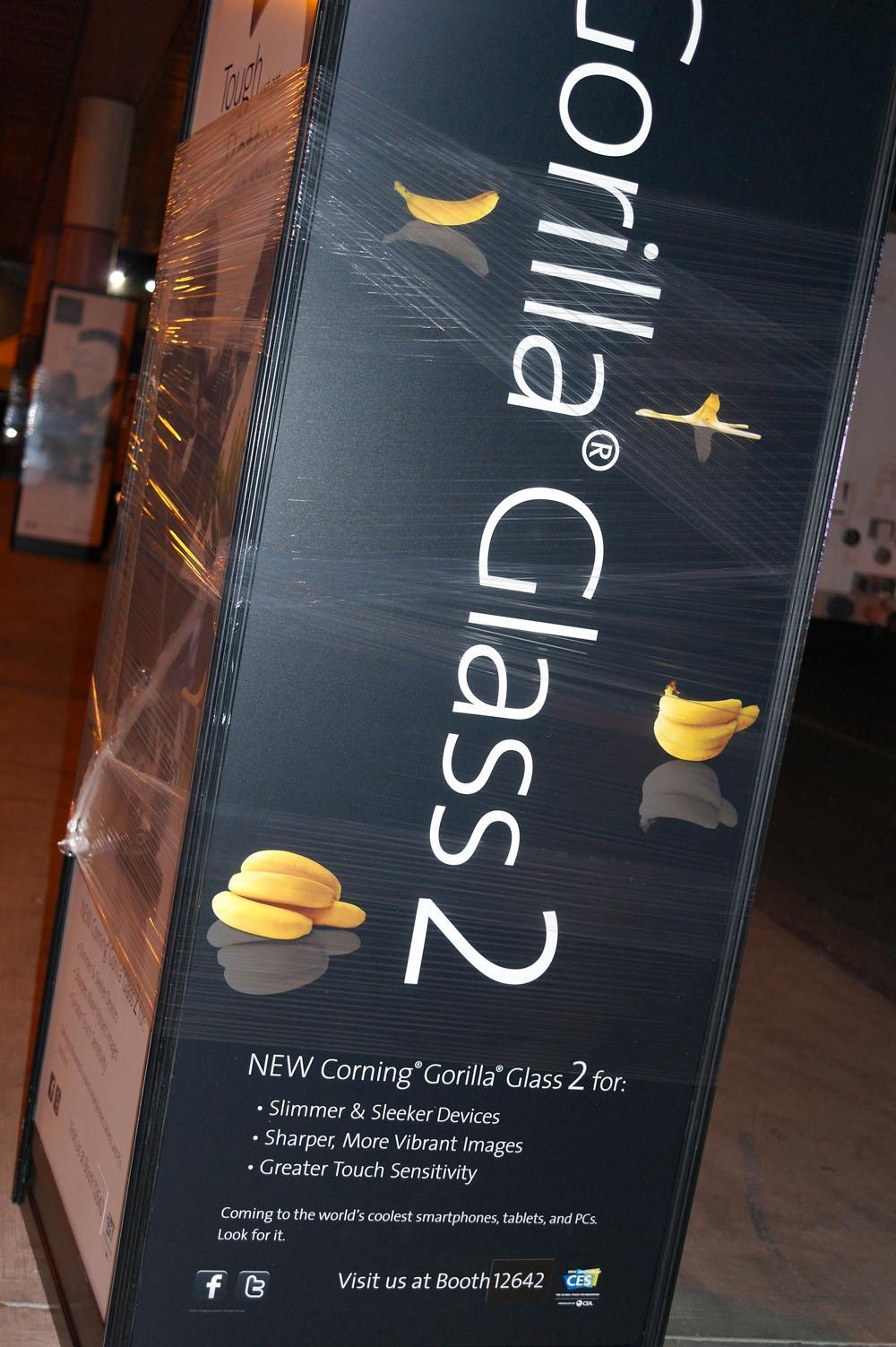 Corning slipper en oppfølger til dagens Gorilla Glass på årets CES-messe.