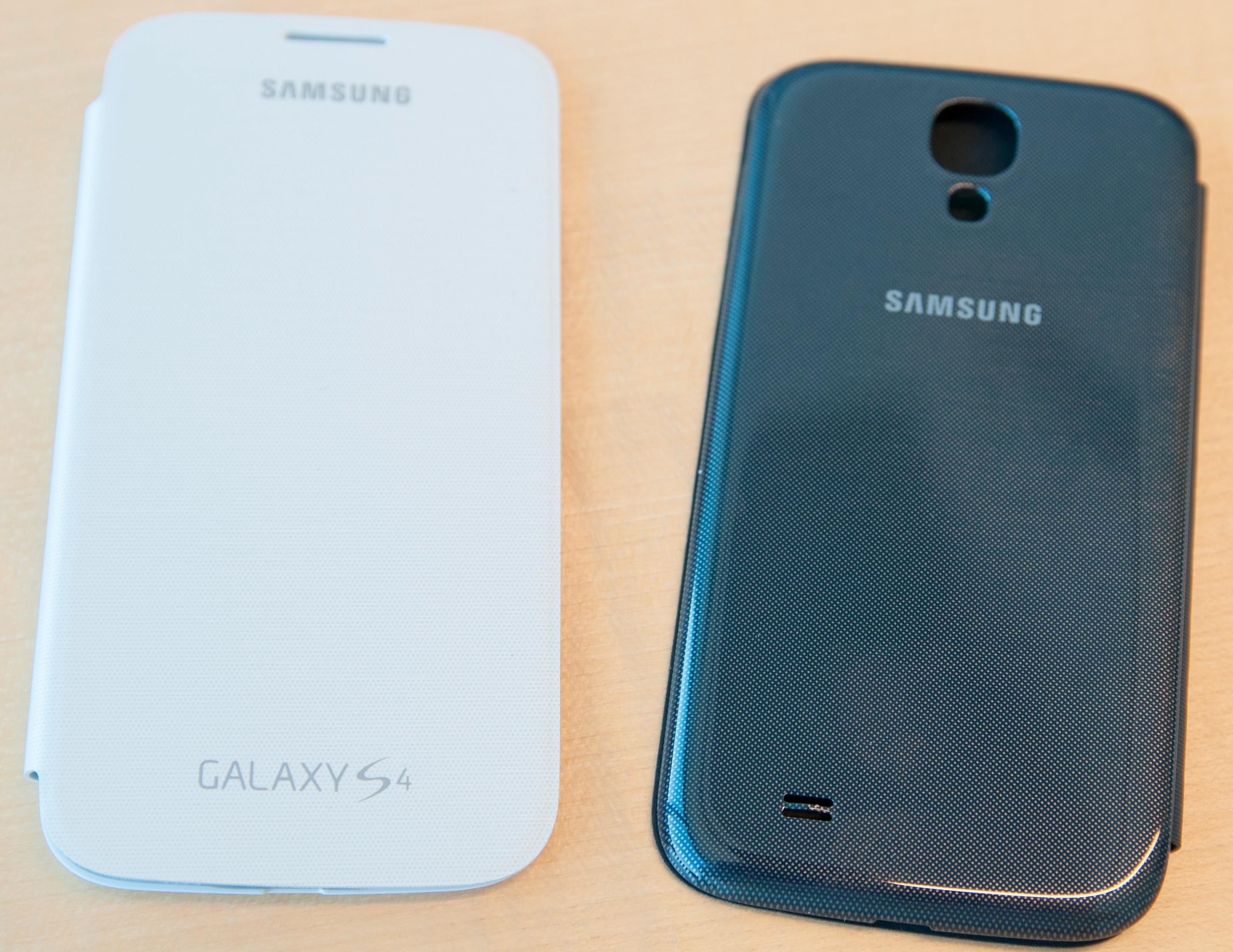 Samsungs flipdeksel kommer selvfølgelig også til Galaxy S4.Foto: Finn Jarle Kvalheim, Amobil.no