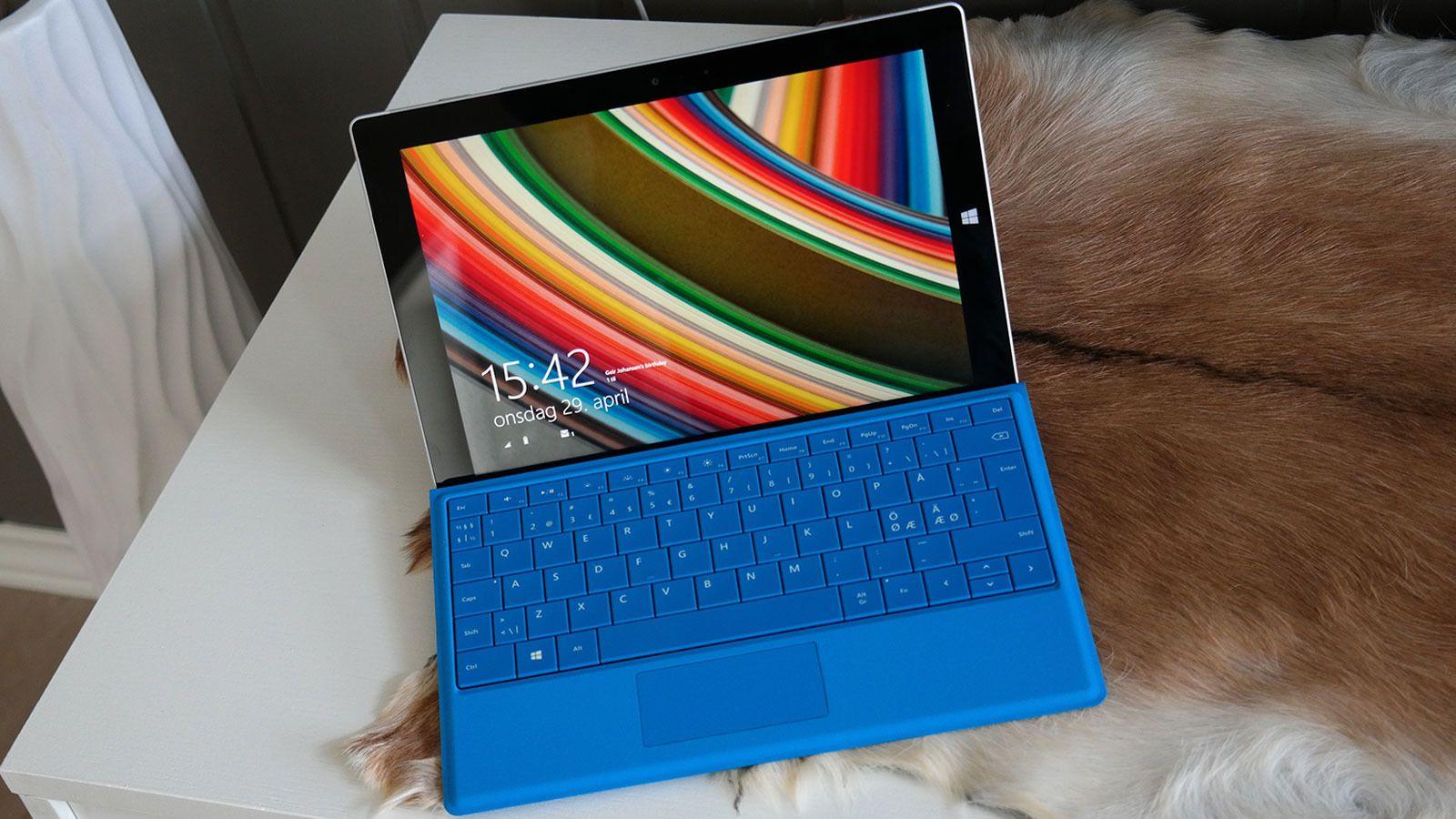 Tastaturet til Surface 3 er ekstrautstyr. Foto: Espen Irwing Swang, Tek.no