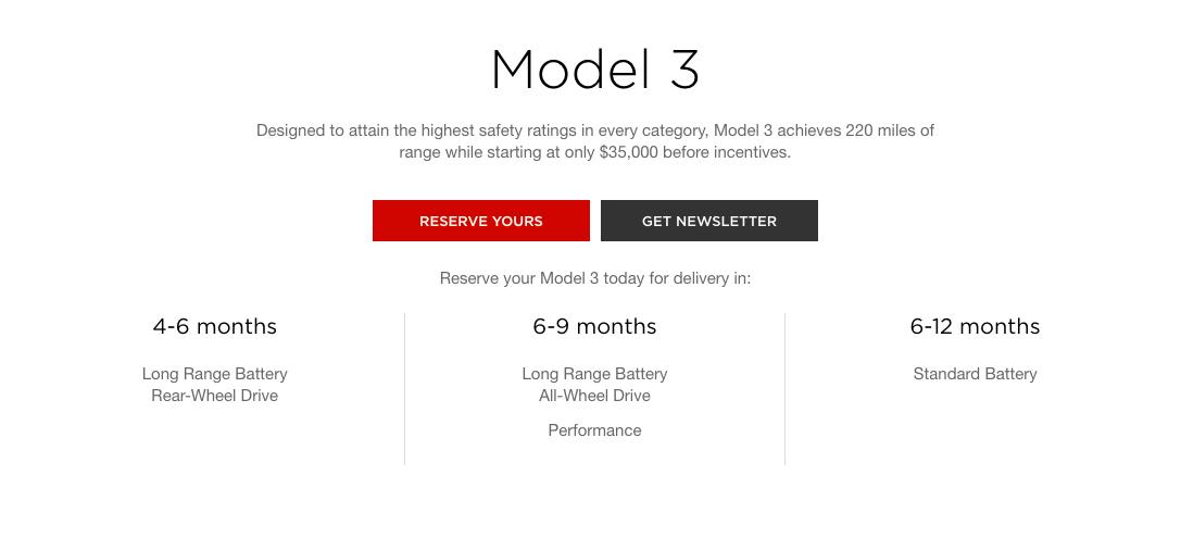 Tesla kutter leveringstiden markant på alle utgaver av Model 3, men foreløpig bare i USA.