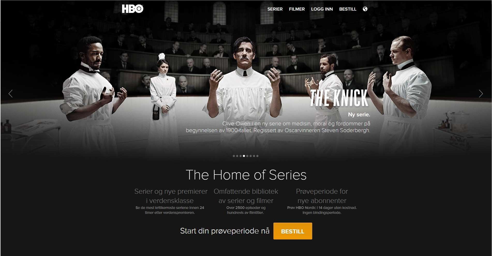HBO, skjermdump 7.10.2014.