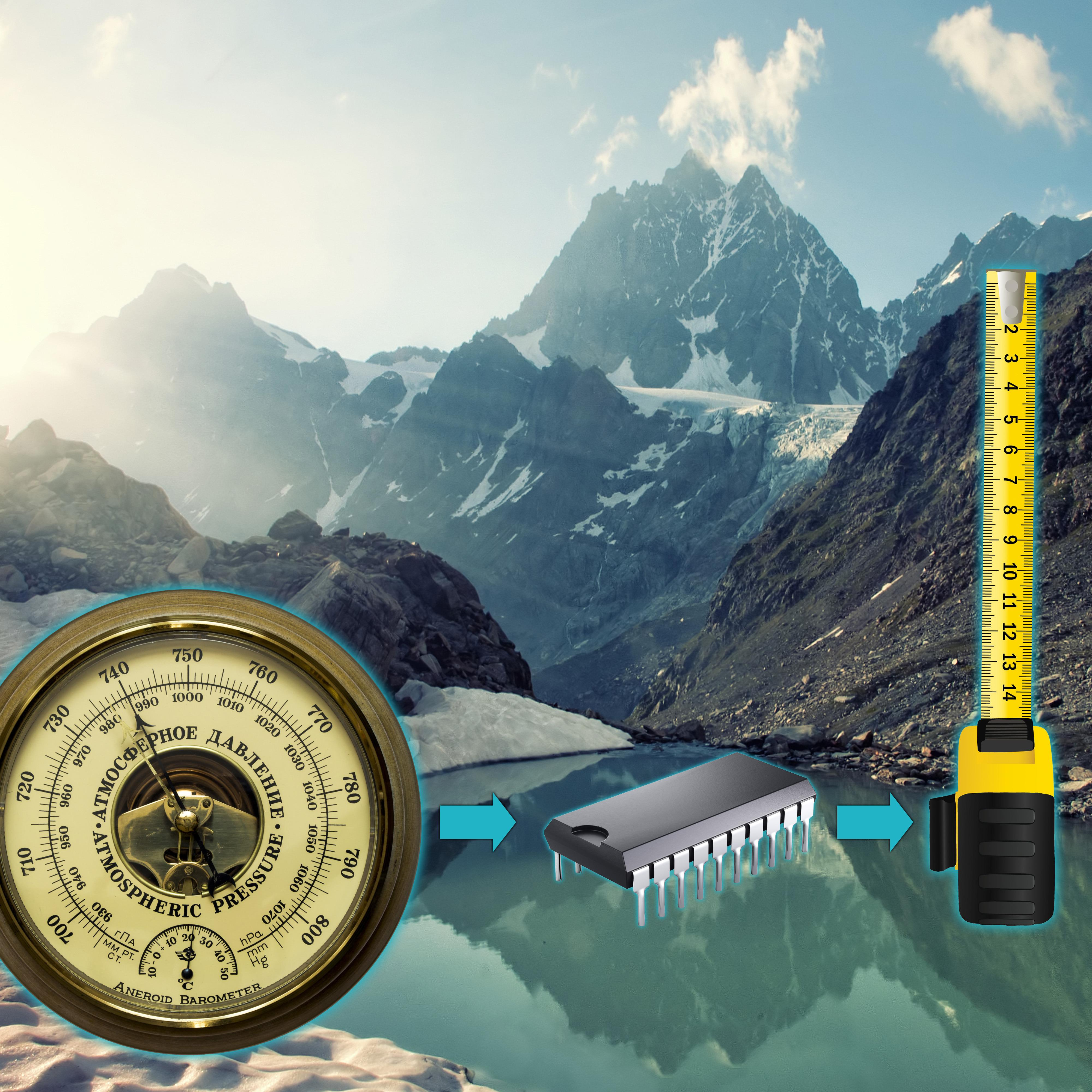 Det digitale barometeret i en moderne smarttelefon brukes til å beregne relativ høyde. Når trykket øker har du beveget deg nedover i omgivelsene, eller funnet deg en trykktank.Foto: Montasje/Shutterstock