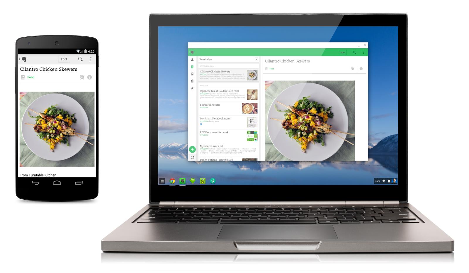 Du kan nå kjøre Android-apper både på Chrome OS-PC-er, og i Chrome-nettleseren på PC-er med andre operativsystemer.Foto: Google