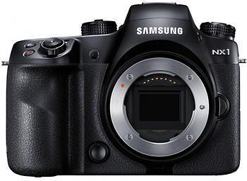 Samsung NX1 uten objektiv: ikke spesielt liten, men dertil kraftig.Foto: Samsung
