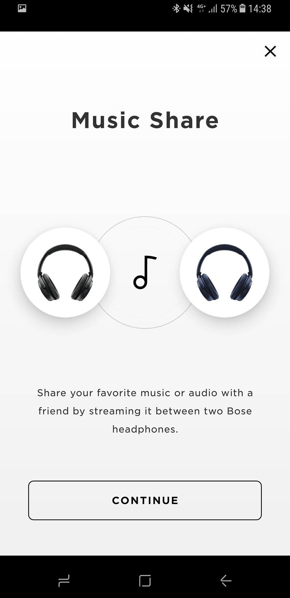 Boses Music Share-funksjon lar deg dele lyden mellom to trådløse Bose-hodetelefoner. Bilde: Finn Jarle Kvalheim, Tek.no