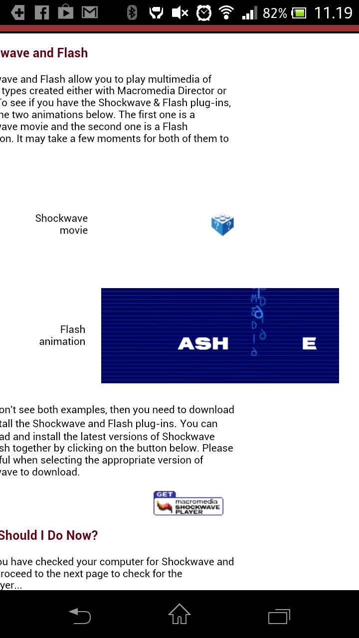 Webkit-leseren har Flash-støtte.