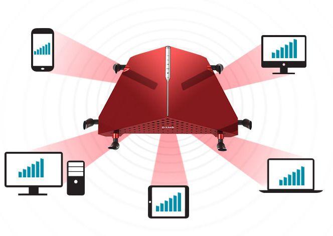 D-Link DIR-890L sender signalene direkte mot enhetene, ved hjelp av «SmartBeam», eller Beamforming, som teknologien egentlig heter.