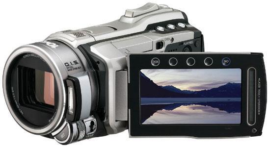 Linsen er en Konica Minolta HD-linse, med 10x optisk zoom.