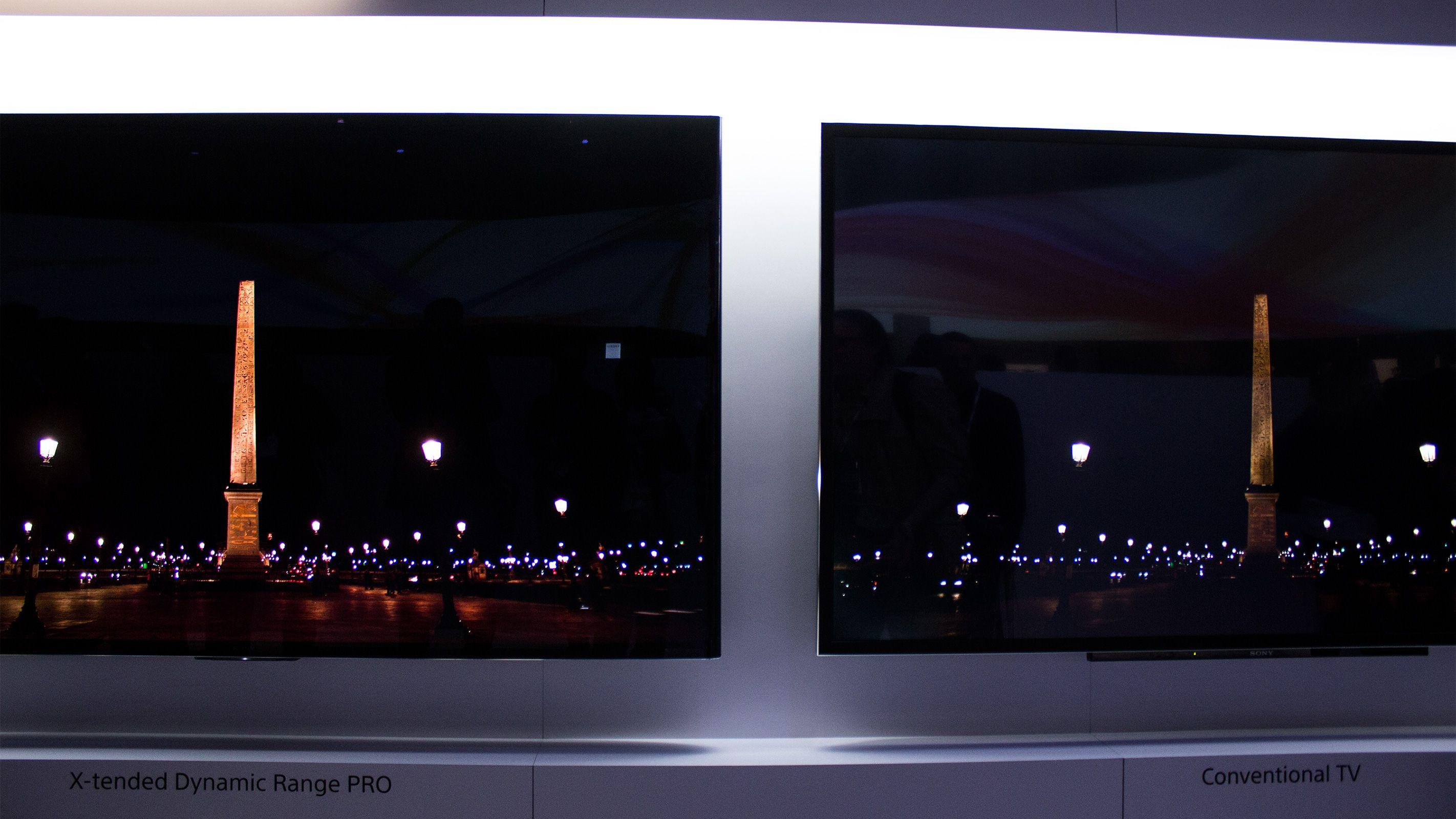 Det er en meget synlig forskjell på TV-er med høy og lav dynamisk spennvidde på lysstyrken.Foto: Varg Aamo, Hardware.no
